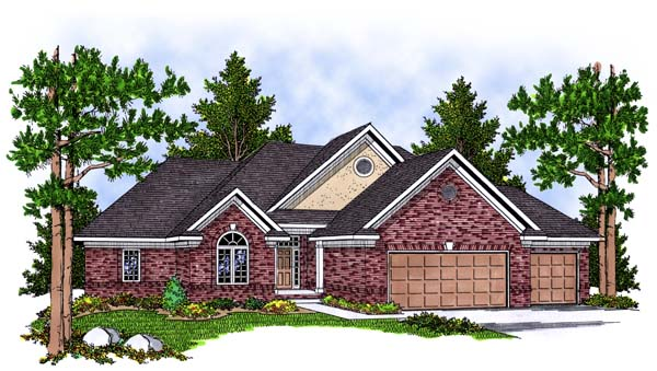 Traditional House Plan 73381 Elevation
