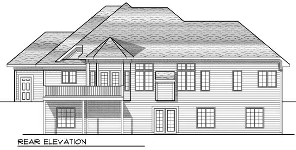 Traditional House Plan 73381 Rear Elevation