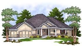 European House Plan 73383 Elevation