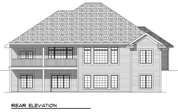 European House Plan 73383 Rear Elevation