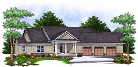 House Plan 73384 | Traditional Style Plan with 1872 Sq Ft, 2 Bedrooms, 2 Bathrooms, 3 Car Garage Elevation
