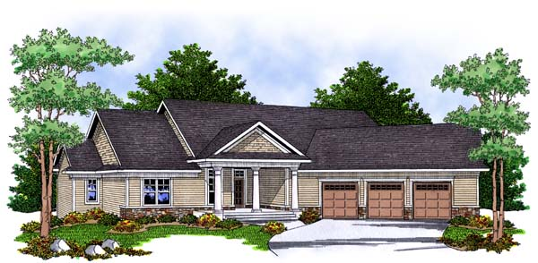 Traditional House Plan 73384 Elevation