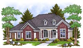 Traditional House Plan 73385 with 2 Beds, 2 Baths, 3 Car Garage Elevation