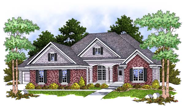 House Plan 73386 | Style House Plan with 2194 Sq Ft, 2 Bed, 2 Bath, 2 Car Garage Elevation