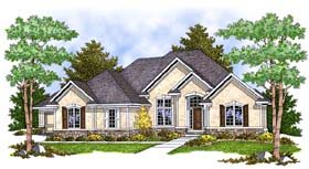 House Plan 73388 | Traditional Style Plan with 2297 Sq Ft, 2 Bedrooms, 2 Bathrooms, 3 Car Garage Elevation
