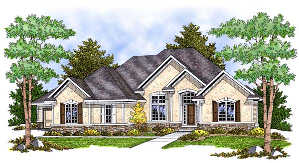 Traditional House Plan 73388 Elevation