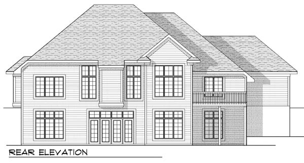House Plan 73388 | Traditional Style Plan with 2297 Sq Ft, 2 Bedrooms, 2 Bathrooms, 3 Car Garage Rear Elevation