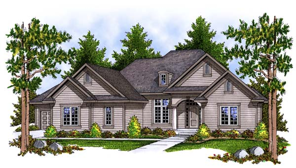 Traditional House Plan 73390 Elevation