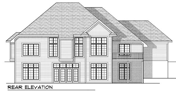 Traditional House Plan 73390 Rear Elevation