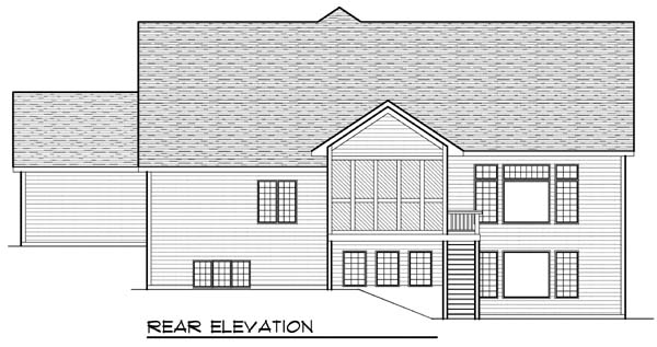 Craftsman Traditional House Plan 73393 Rear Elevation
