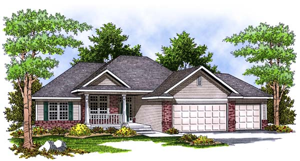 Traditional House Plan 73394 Elevation