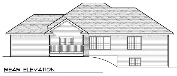 Traditional House Plan 73394 Rear Elevation