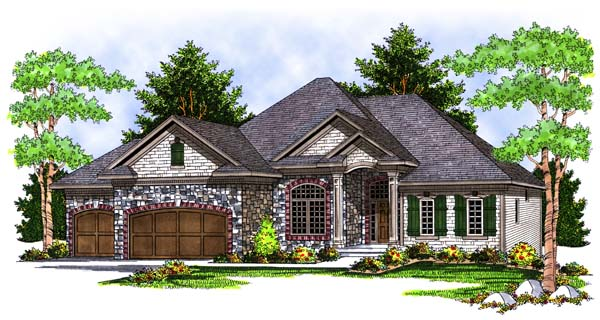 European House Plan 73395 Elevation