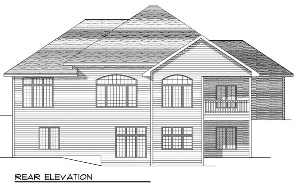 European House Plan 73395 Rear Elevation