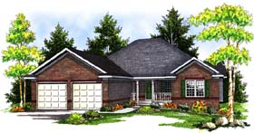 Traditional House Plan 73396 Elevation
