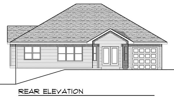 Traditional House Plan 73396 Rear Elevation