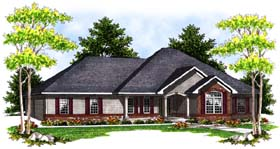 House Plan 73397 | Traditional Style Plan with 1805 Sq Ft, 3 Bedrooms, 2 Bathrooms, 3 Car Garage Elevation