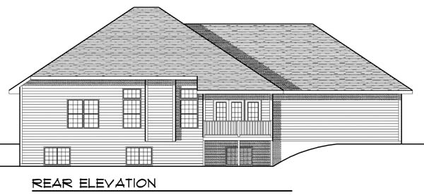 Traditional House Plan 73397 Rear Elevation