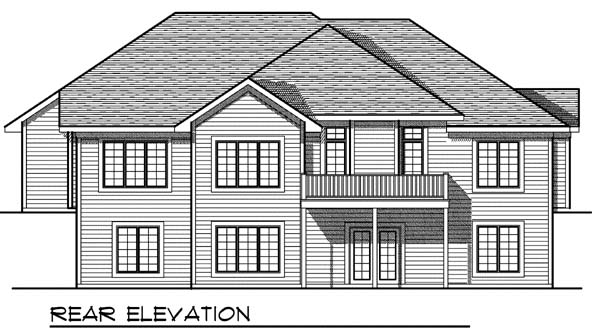 Traditional House Plan 73398 Rear Elevation