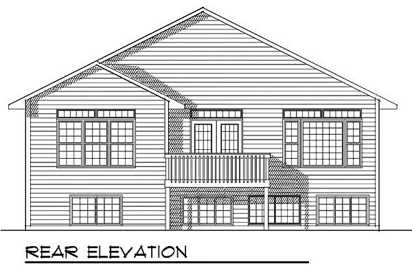 House Plan 73400 | Traditional Style Plan with 1385 Sq Ft, 2 Bedrooms, 2 Bathrooms, 2 Car Garage Rear Elevation