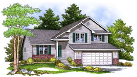 Traditional House Plan 73401 with 3 Beds, 3 Baths, 2 Car Garage Elevation