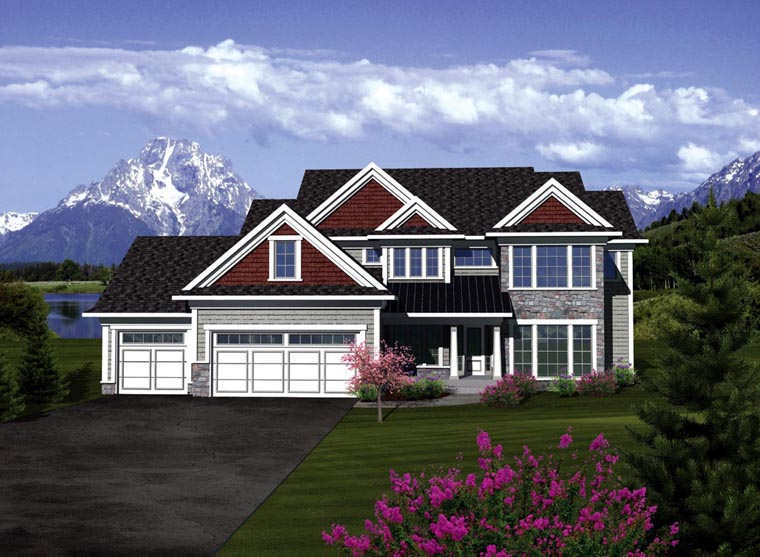 Traditional House Plan 73405 with 5 Beds, 5 Baths, 3 Car Garage Elevation