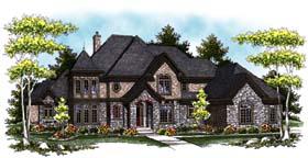 Tudor , European House Plan 73406 with 4 Beds, 5 Baths, 3 Car Garage Elevation