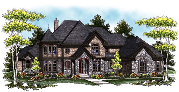 European Tudor House Plan 73406 Elevation
