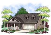 Plan Number 73408 - 1372 Square Feet