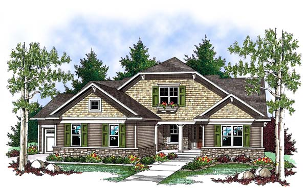 Country Craftsman House Plan 73413 Elevation