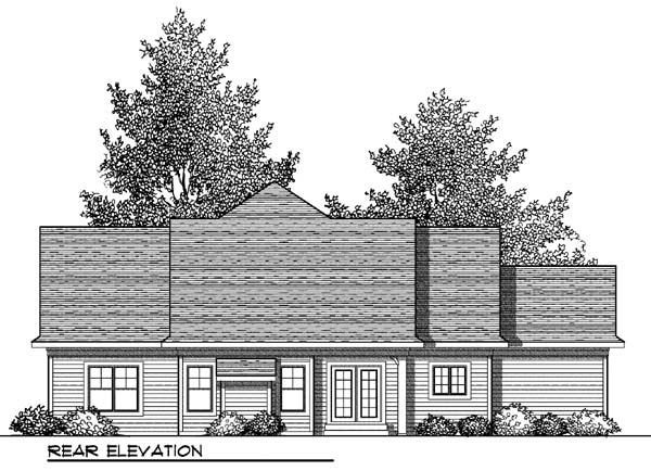 Country Craftsman House Plan 73413 Rear Elevation