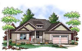 Craftsman House Plan 73414 with 3 Beds, 2 Baths, 2 Car Garage Elevation