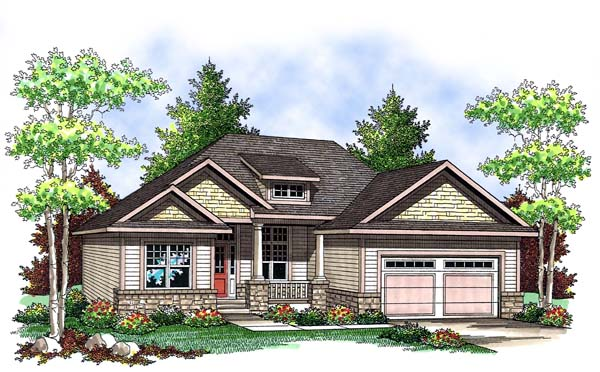 Craftsman House Plan 73414 Elevation