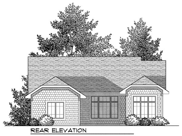 Craftsman House Plan 73415 Rear Elevation