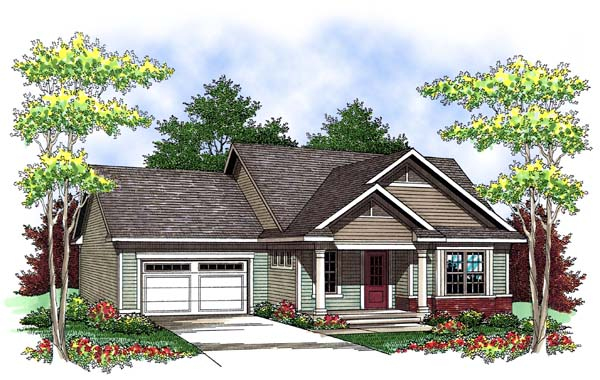 Ranch House Plan 73417 Elevation
