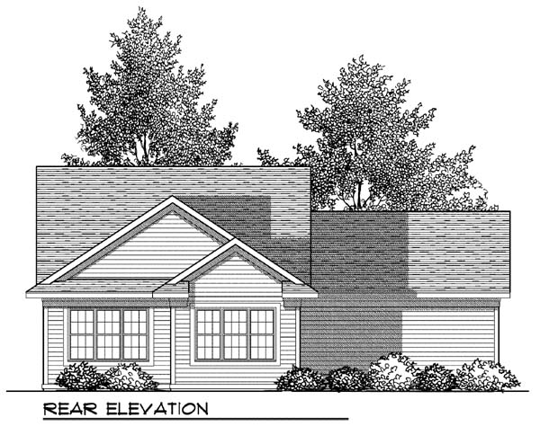 Ranch House Plan 73417 Rear Elevation