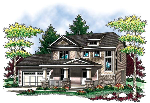 Contemporary Country Craftsman House Plan 73418 Elevation