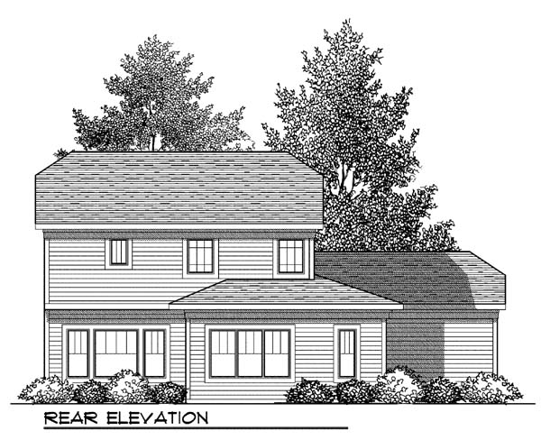 Contemporary Country Craftsman House Plan 73418 Rear Elevation
