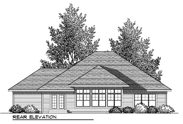 Craftsman Traditional House Plan 73420 Rear Elevation