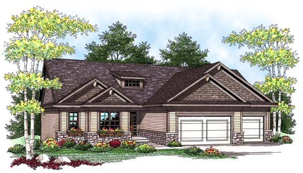 Ranch Traditional House Plan 73422 Elevation