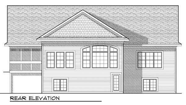 Ranch Traditional House Plan 73422 Rear Elevation