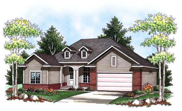Traditional House Plan 73424 Elevation