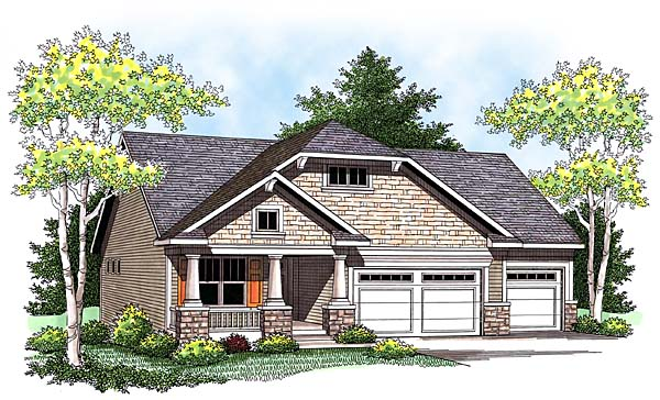 Craftsman House Plan 73426 Elevation