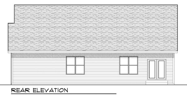 Craftsman House Plan 73426 Rear Elevation