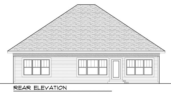 Craftsman European House Plan 73427 Rear Elevation