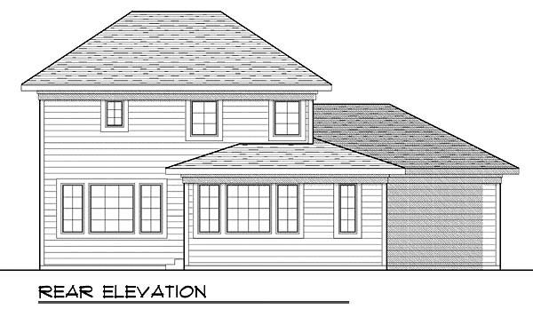 House Plan 73428 Rear Elevation