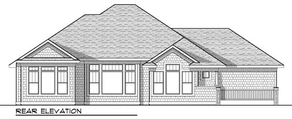 Craftsman Traditional House Plan 73429 Rear Elevation