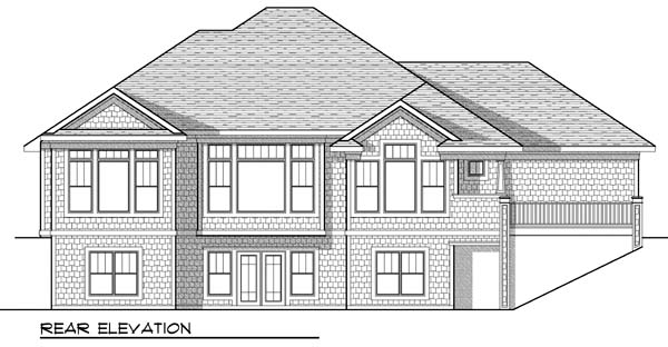 Craftsman Traditional House Plan 73430 Rear Elevation