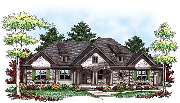 Traditional House Plan 73431 Elevation