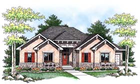 House Plan 73435 | Craftsman Traditional Style Plan with 3140 Sq Ft, 3 Bedrooms, 4 Bathrooms, 3 Car Garage Elevation